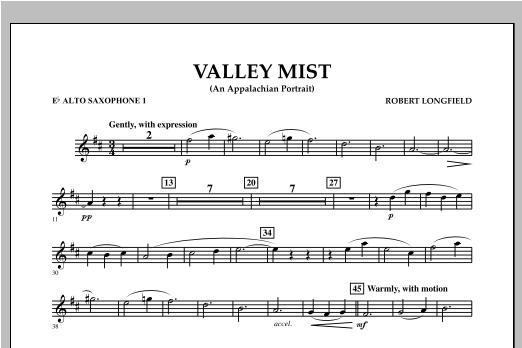 Valley Mist (An Appalachian Portrait) - Eb Alto Saxophone 1 Sheet Music