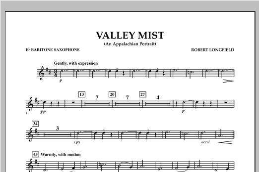 Valley Mist (An Appalachian Portrait) - Eb Baritone Saxophone Sheet Music