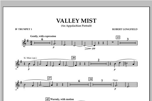 Valley Mist (An Appalachian Portrait) - Bb Trumpet 1 Sheet Music