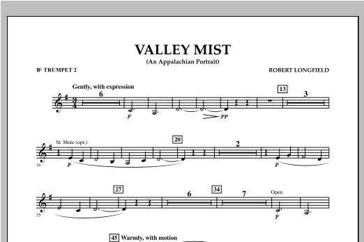 Valley Mist (An Appalachian Portrait) - Bb Trumpet 2 Sheet Music