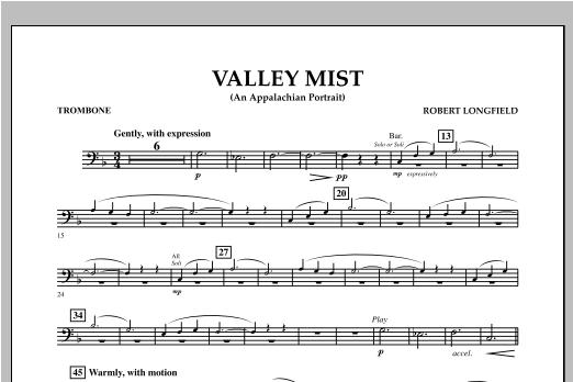 Valley Mist (An Appalachian Portrait) - Trombone Sheet Music