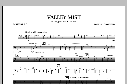 Valley Mist (An Appalachian Portrait) - Baritone B.C. Sheet Music