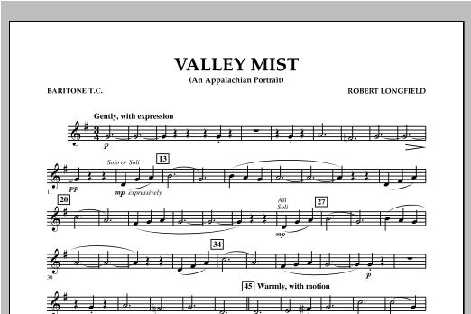 Valley Mist (An Appalachian Portrait) - Baritone T.C. Sheet Music