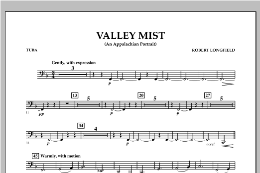 Valley Mist (An Appalachian Portrait) - Tuba Sheet Music