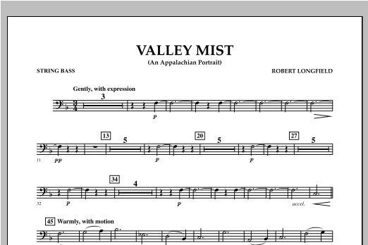 Valley Mist (An Appalachian Portrait) - Bass Sheet Music