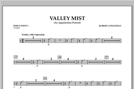 Valley Mist (An Appalachian Portrait) - Percussion 1 Sheet Music