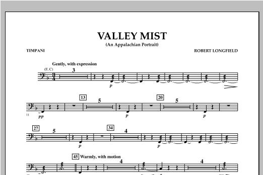 Valley Mist (An Appalachian Portrait) - Timpani Sheet Music