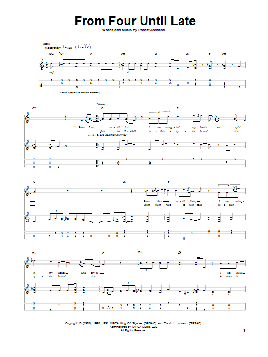 From Four Until Late Sheet Music