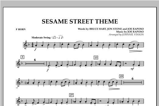 Sesame Street Theme - F Horn Sheet Music