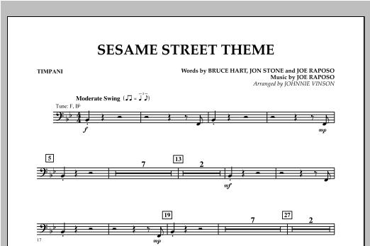 Sesame Street Theme - Timpani Sheet Music