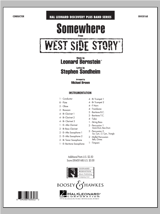 Somewhere (from West Side Story) - Full Score (Concert Band)