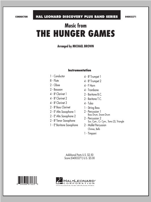 "Music from ""The Hunger Games"" - Full Score Sheet Music"
