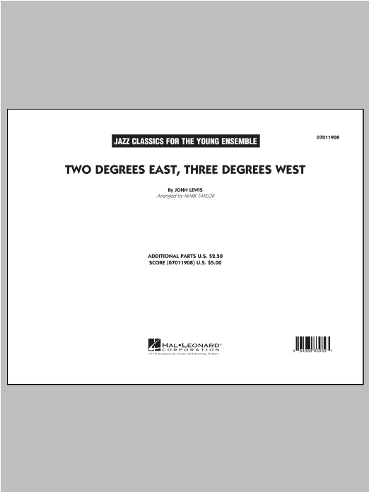 Two Degrees East, Three Degrees West - Full Score Sheet Music