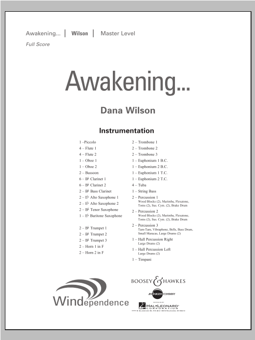 Awakening... - Conductor Score (Full Score) Sheet Music