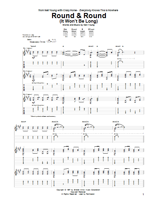 Round & Round (It Won't Be Long) (Guitar Tab)