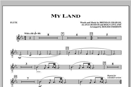 My Land - Flute Sheet Music