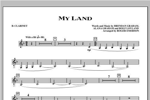 My Land - Bb Clarinet Sheet Music