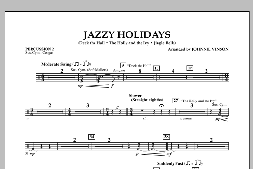 Jazzy Holidays - Percussion 2 (Flex-Band)