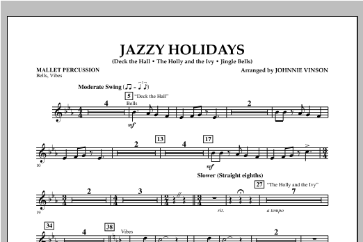Jazzy Holidays - Mallet Percussion Sheet Music