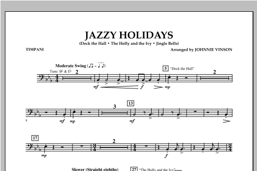 Jazzy Holidays - Timpani Sheet Music