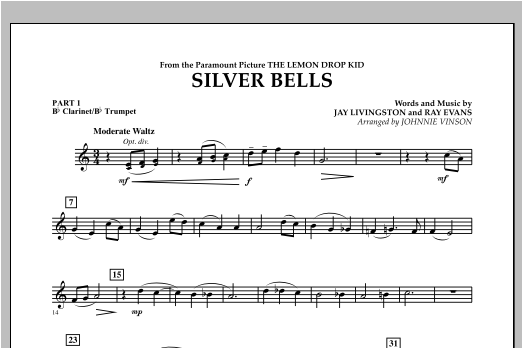 Silver Bells - Pt.1 - Bb Clarinet/Bb Trumpet Sheet Music
