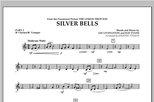 Silver Bells - Pt.2 - Bb Clarinet/Bb Trumpet Sheet Music