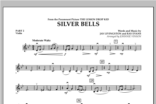 Silver Bells - Pt.2 - Violin Sheet Music
