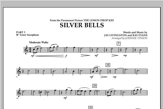 Silver Bells - Pt.3 - Bb Tenor Saxophone Sheet Music