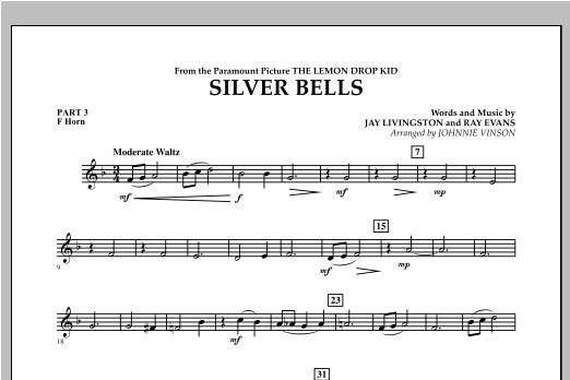 Silver Bells - Pt.3 - F Horn Sheet Music