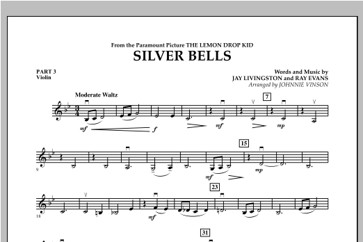Silver Bells - Pt.3 - Violin Sheet Music