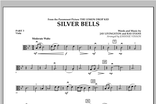 Silver Bells - Pt.3 - Viola Sheet Music
