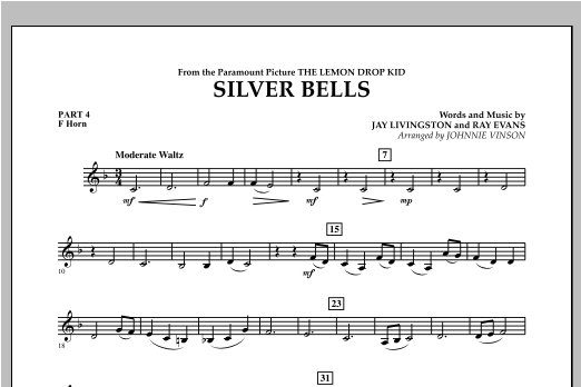 Silver Bells - Pt.4 - F Horn Sheet Music