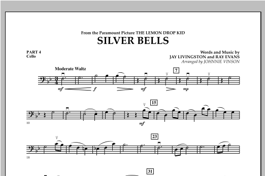 Silver Bells - Pt.4 - Cello Sheet Music