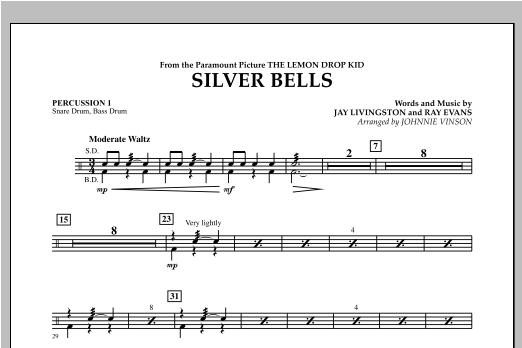 Silver Bells - Percussion 1 Sheet Music