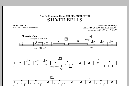 Silver Bells - Percussion 2 Sheet Music
