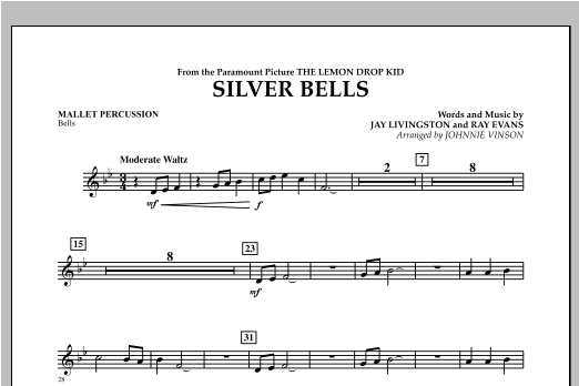 Silver Bells - Mallet Percussion Sheet Music