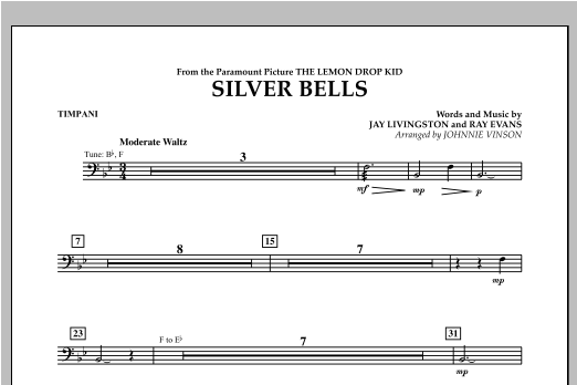 Silver Bells - Timpani Sheet Music