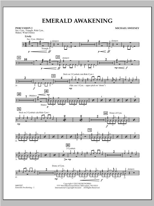 Emerald Awakening - Percussion 2 Sheet Music