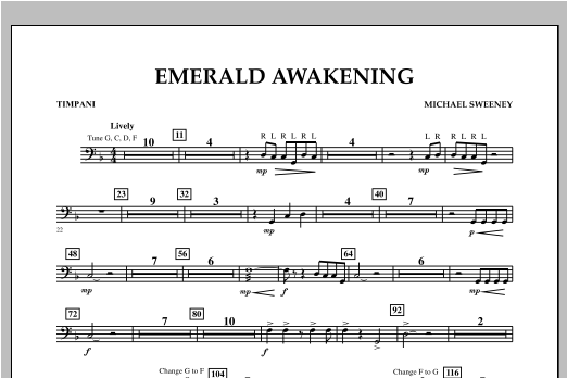 Emerald Awakening - Timpani Sheet Music