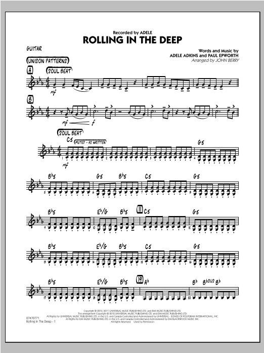 Rolling In The Deep - Guitar Sheet Music