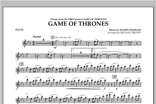 Game Of Thrones - Flute Sheet Music