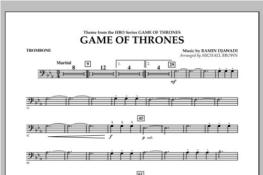 Game Of Thrones - Trombone Sheet Music