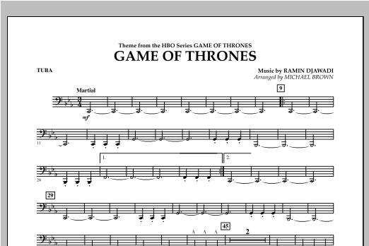 Game Of Thrones - Tuba Sheet Music