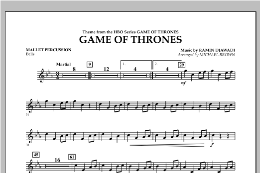 Game Of Thrones - Mallet Percussion Sheet Music