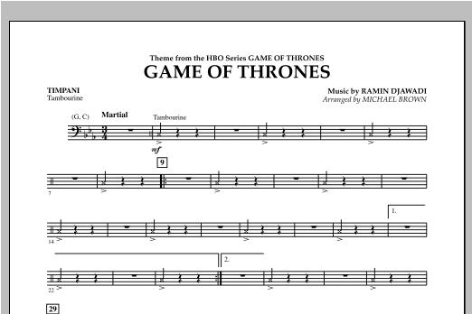 Game Of Thrones - Timpani Sheet Music