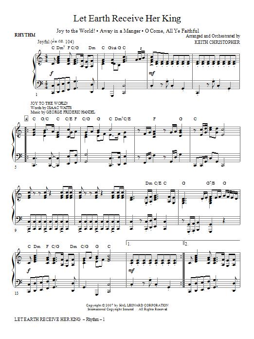 Let Earth Receive Her King - Rhythm Sheet Music
