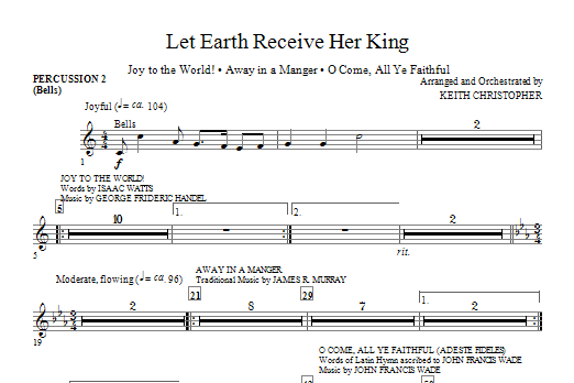 Let Earth Receive Her King - Percussion 2 Sheet Music