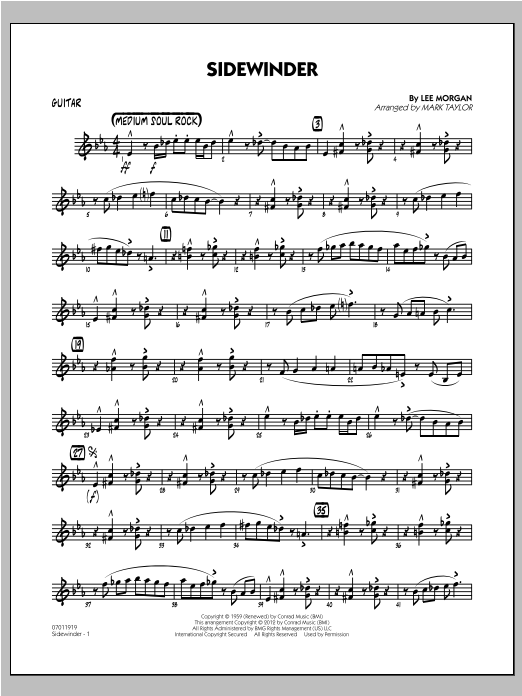 Sidewinder - Guitar Sheet Music