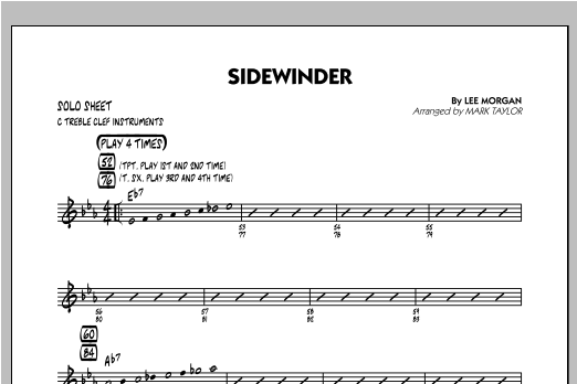 Sidewinder - C Solo Sheet Sheet Music