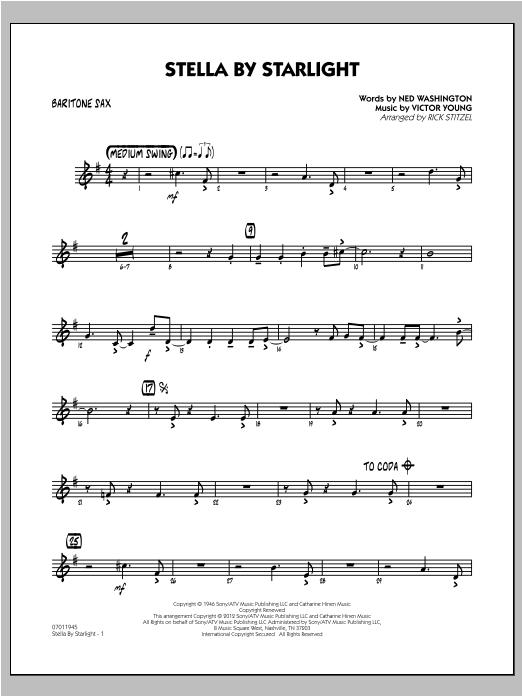 Stella By Starlight - Baritone Sax Sheet Music